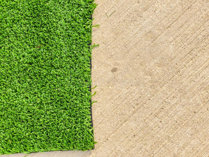 Artificial cover for the sports field. Close up shot.  royalty free stock photography