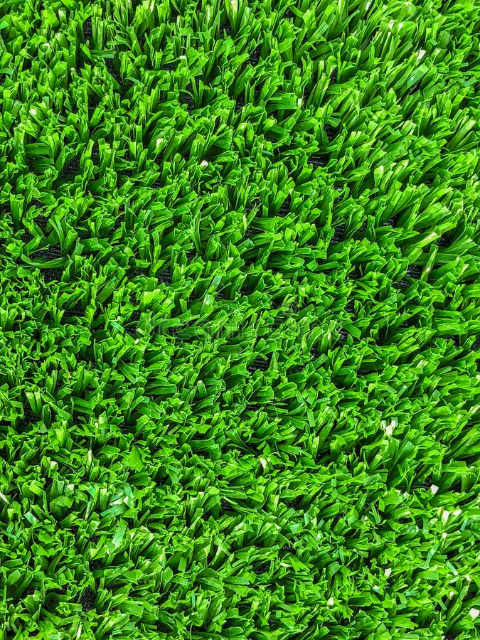 Artificial cover for the sports field. Close up shot.  stock image