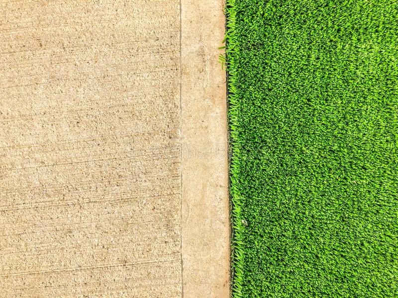 Artificial cover for the sports field. Close up shot.  stock photos