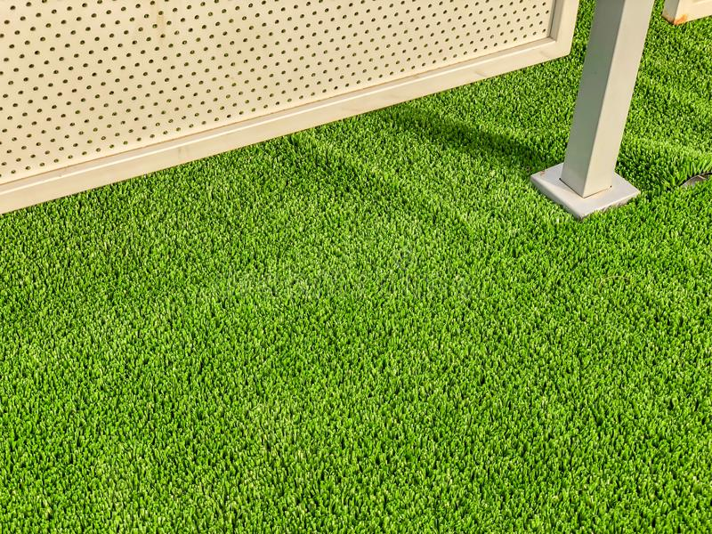 Artificial cover for the sports field. Close up shot.  royalty free stock photos
