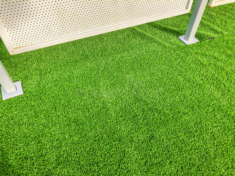Artificial cover for the sports field. Close up shot.  stock photo