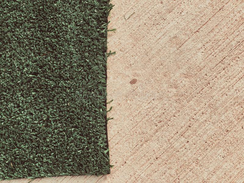Artificial cover for the sports field. Close up shot.  stock images