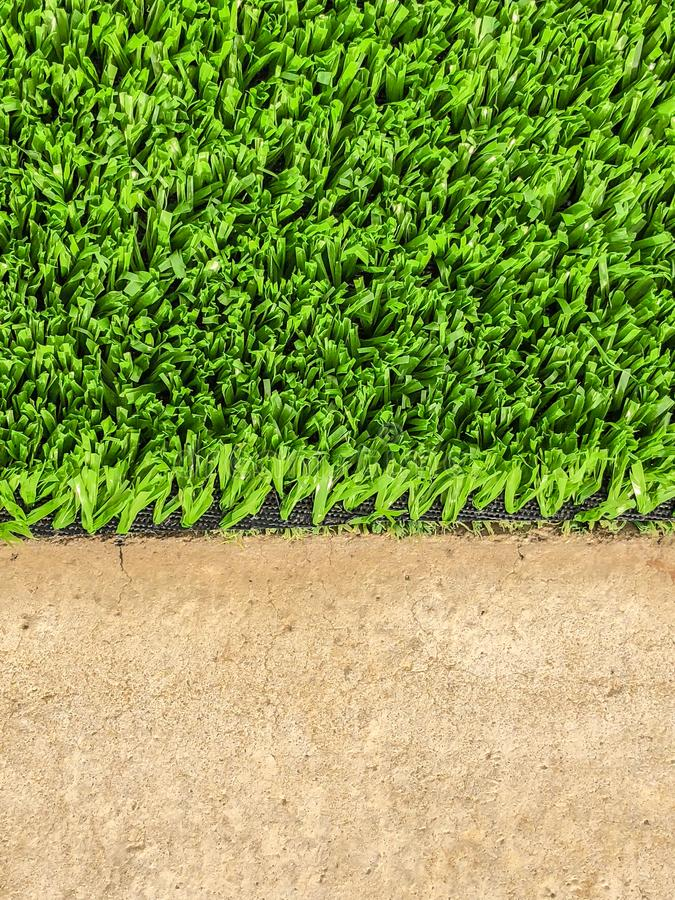 Artificial cover for a sports treadmill in the park. Close up shot.  royalty free stock image