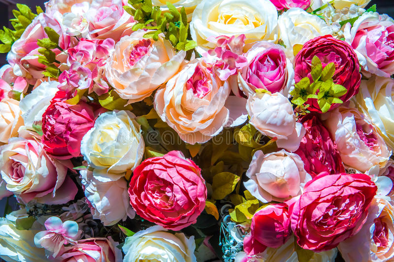 Artificial Floral background stock images