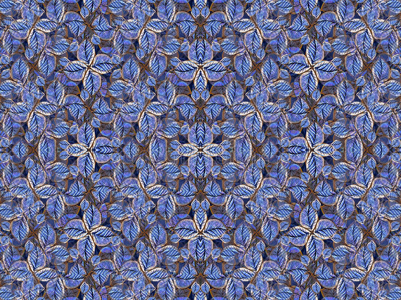 Artificial Floral Pattern in Navy Colors vector illustration