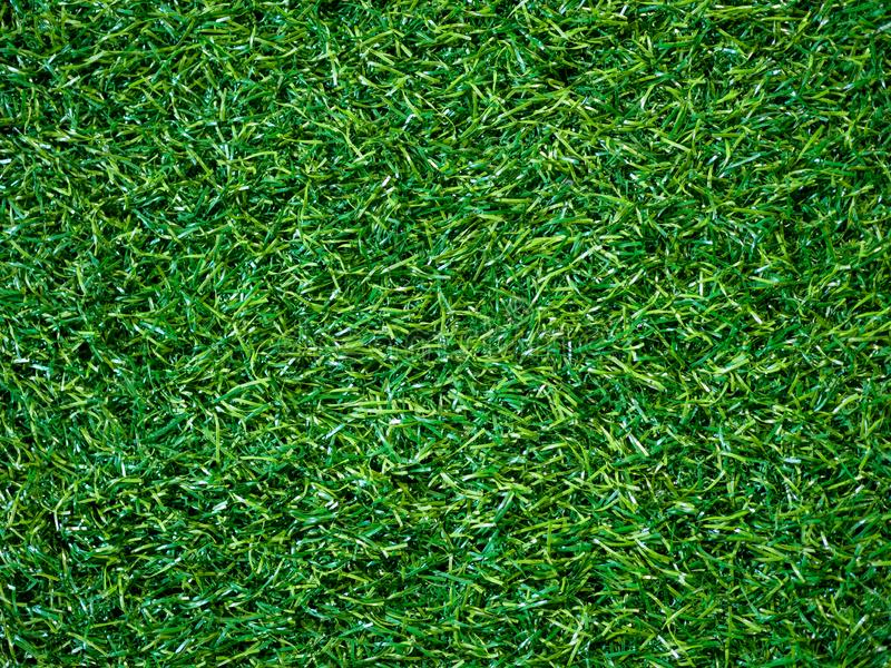 Artificial green grass background texture on soccer field and copy space for design in your work stock images