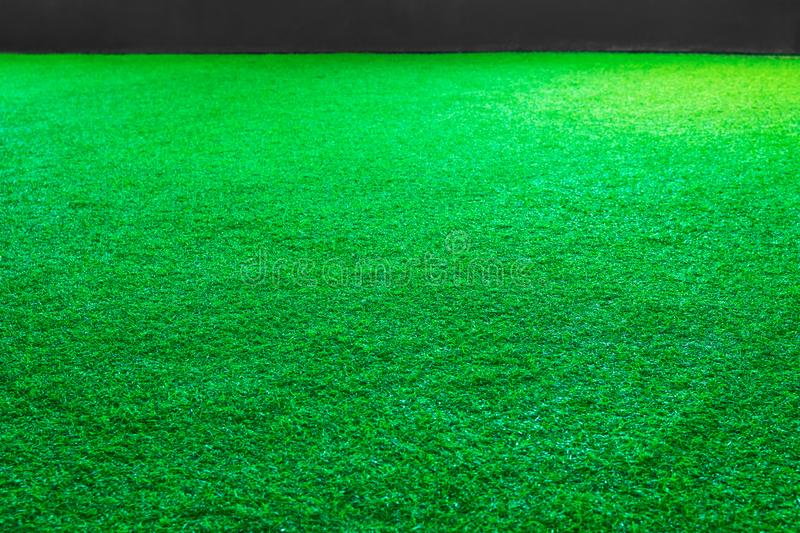 Artificial green grass or sport field texture background stock images