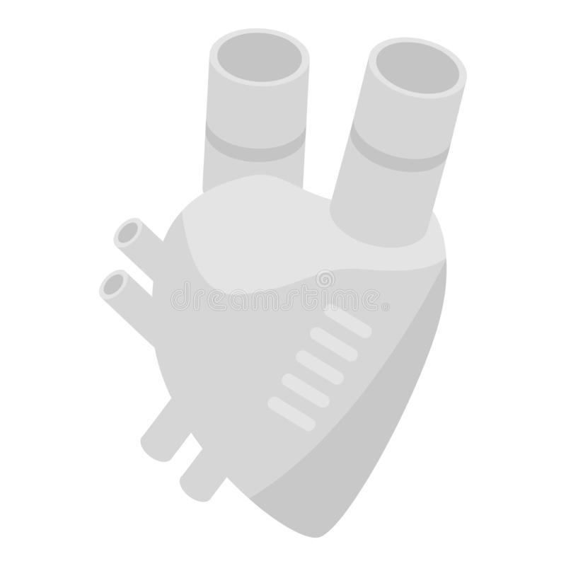 Artificial heart icon, isometric style royalty free illustration