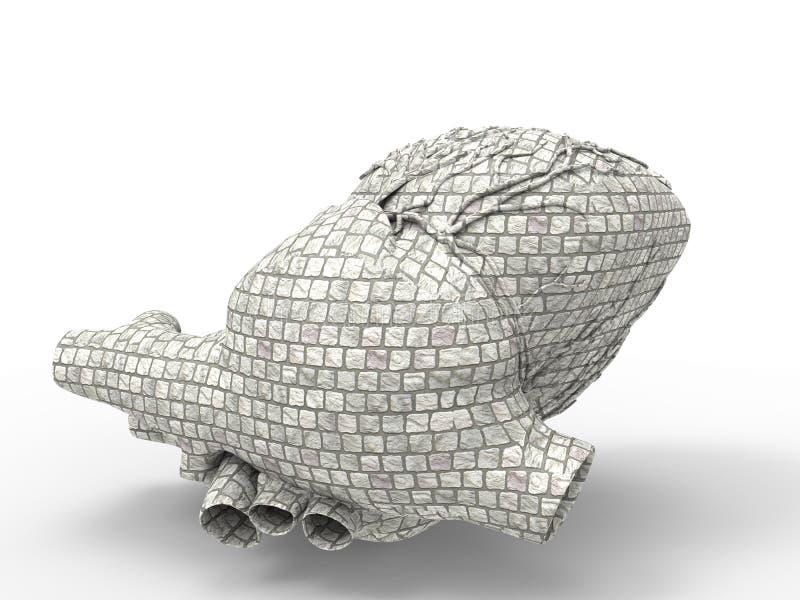 Download Artificial human heart stock illustration. Illustration of atrium - 25461470