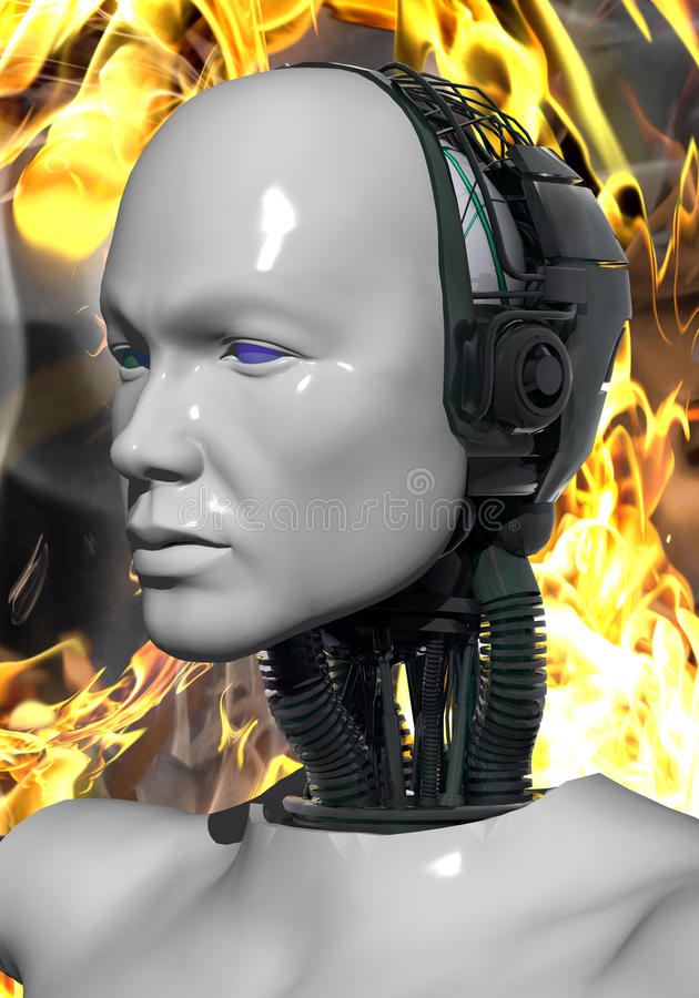 Download Artificial intelligence stock illustration. Image of mechanic - 10067552