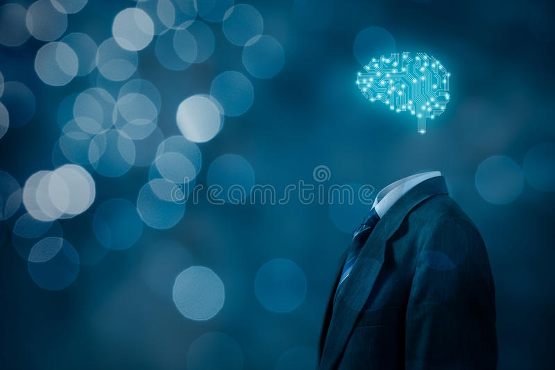 Artificial intelligence. AI, data mining, expert system software, genetic programming, machine learning, deep learning, neural networks and another modern stock photos