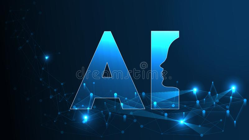 Artificial Intelligence Ai Futuristic Concept Human Big Data Visualization With Cyber Mind Machine Deep Learning Stock Vector Illustration Of Binary Internet 133450329