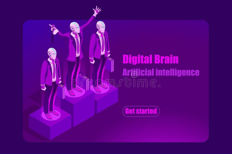 Artificial Intelligence Template Concept for Hero Images royalty free illustration