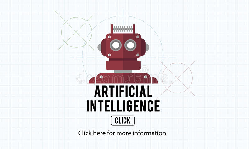 Artificial Intelligence Automation Machine Robot Concept vector illustration