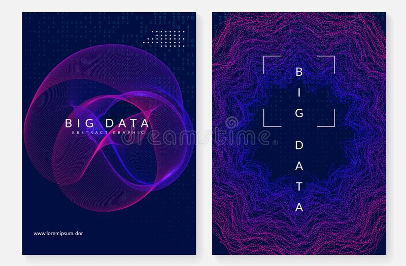 Visualization background. Technology for big data, artificial in stock illustration