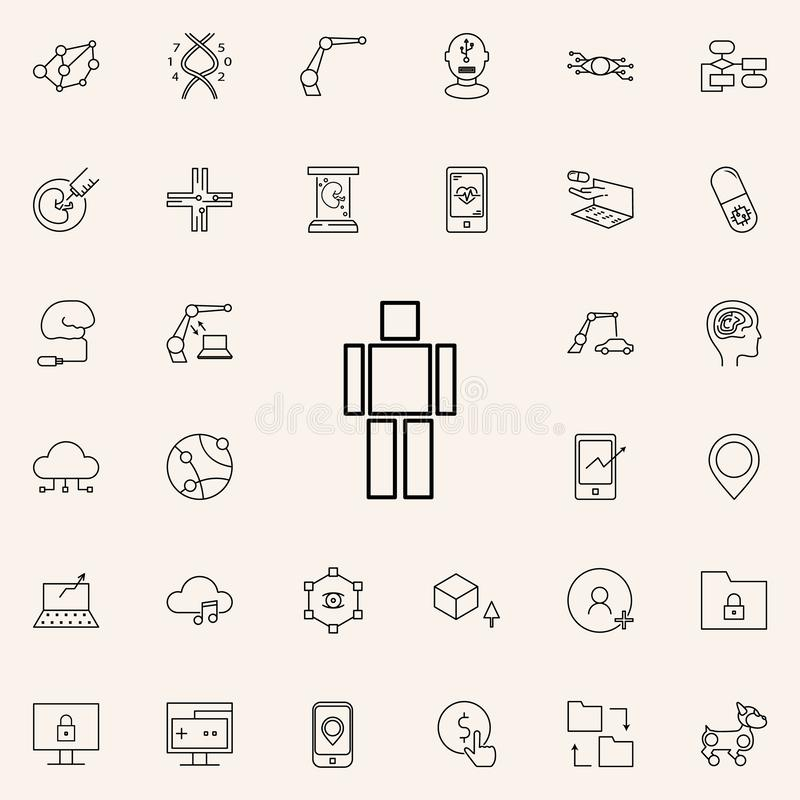 artificial intelligence brain icon. New Technologies icons universal set for web and mobile stock illustration