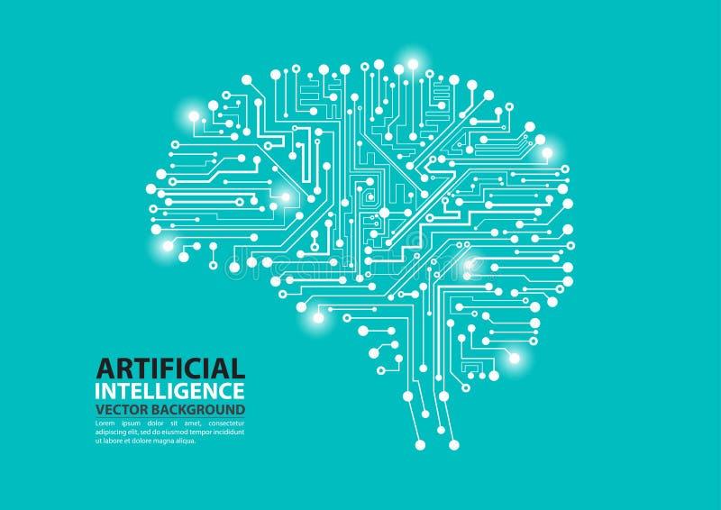Artificial Intelligence brain illustration stock illustration