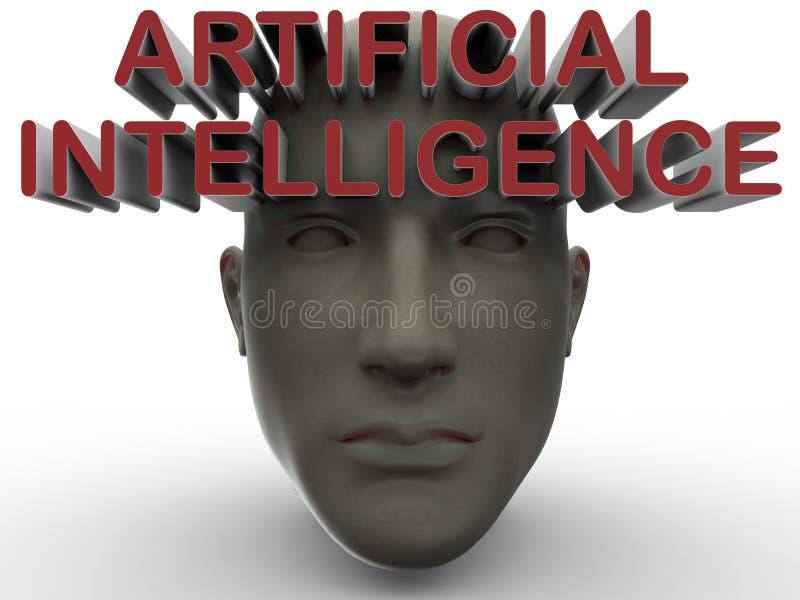 Artificial intelligence concept stock illustration