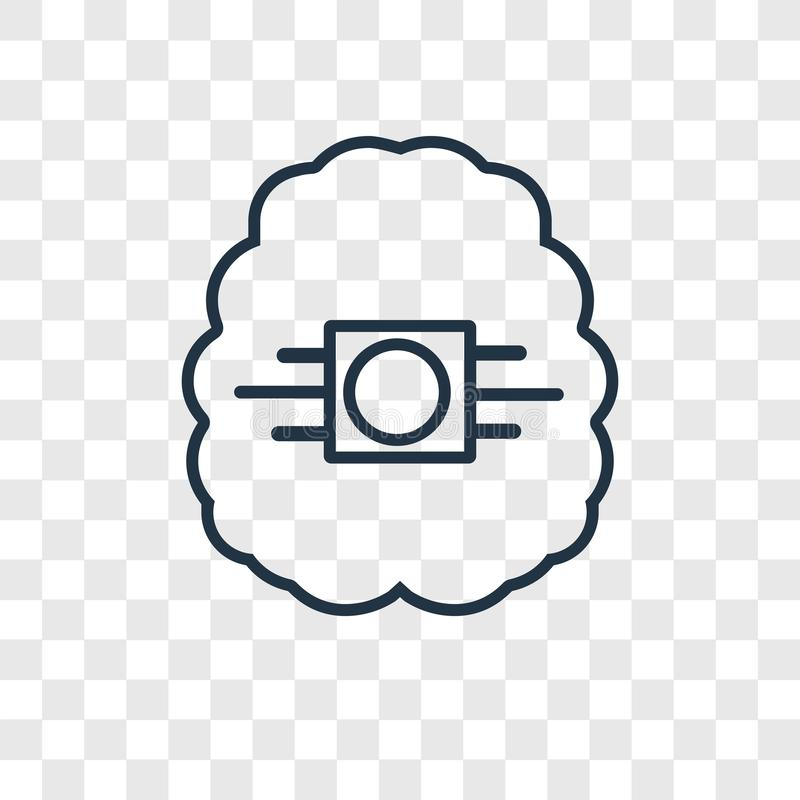 Artificial intelligence concept vector linear icon isolated on t royalty free illustration