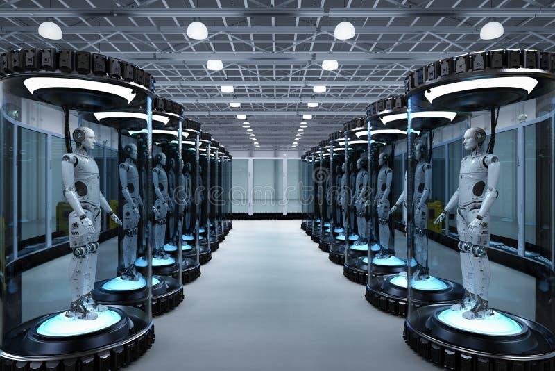 Artificial intelligence development concept royalty free illustration