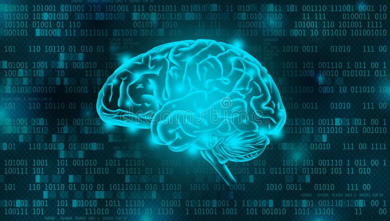 Artificial Intelligence digital background concept royalty free illustration