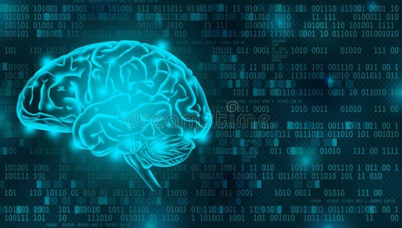Artificial Intelligence digital background concept vector illustration