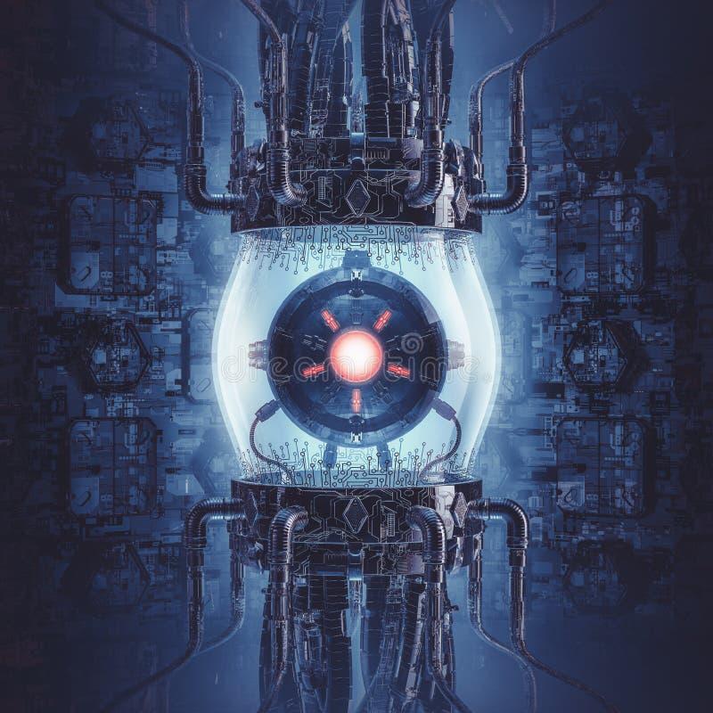 Artificial intelligence generator vector illustration