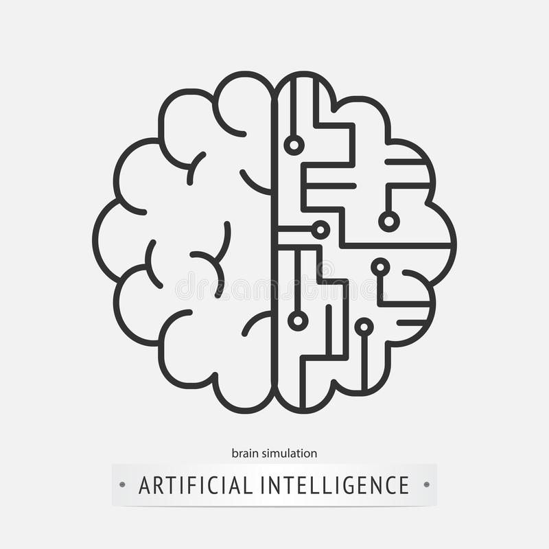 Artificial intelligence icon design. royalty free illustration