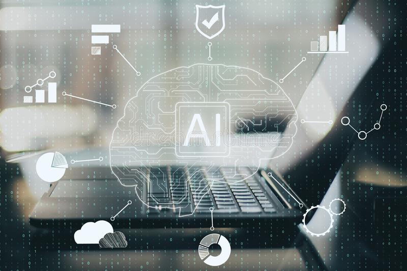 Artificial intelligence and innovation concept stock images