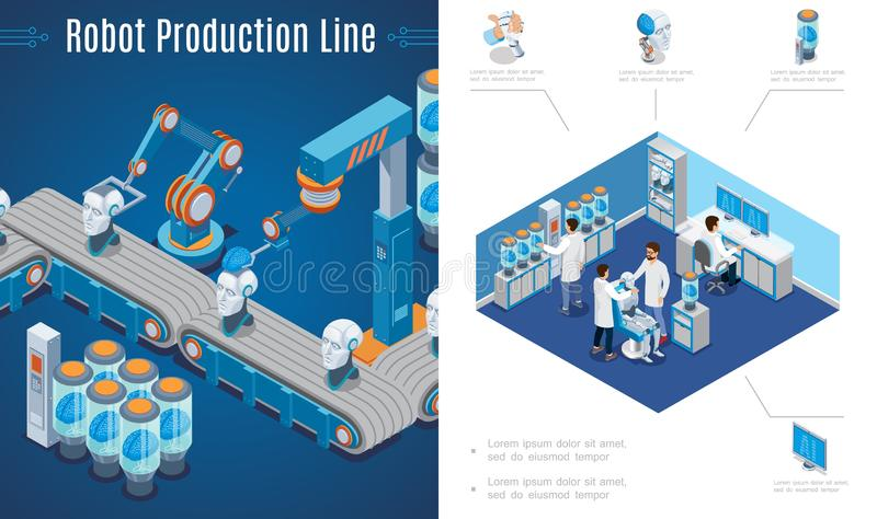 Artificial Intelligence Invention Composition royalty free illustration