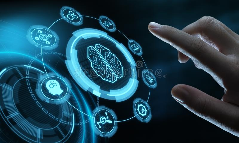 Artificial intelligence Machine Learning Business Internet Technology Concept.  stock photo