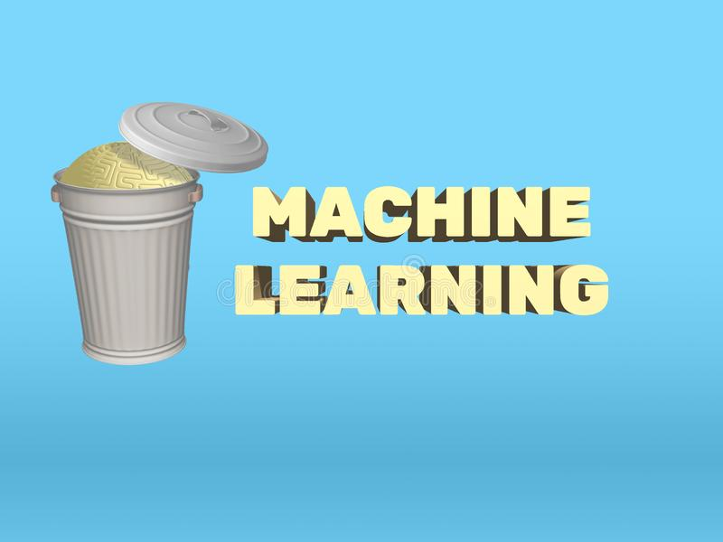 Artificial Intelligence Machine Learning Vs Human Mind royalty free illustration