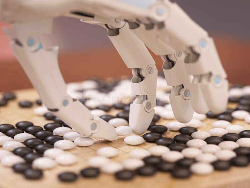 Artificial Intelligence Playing Go stock photo