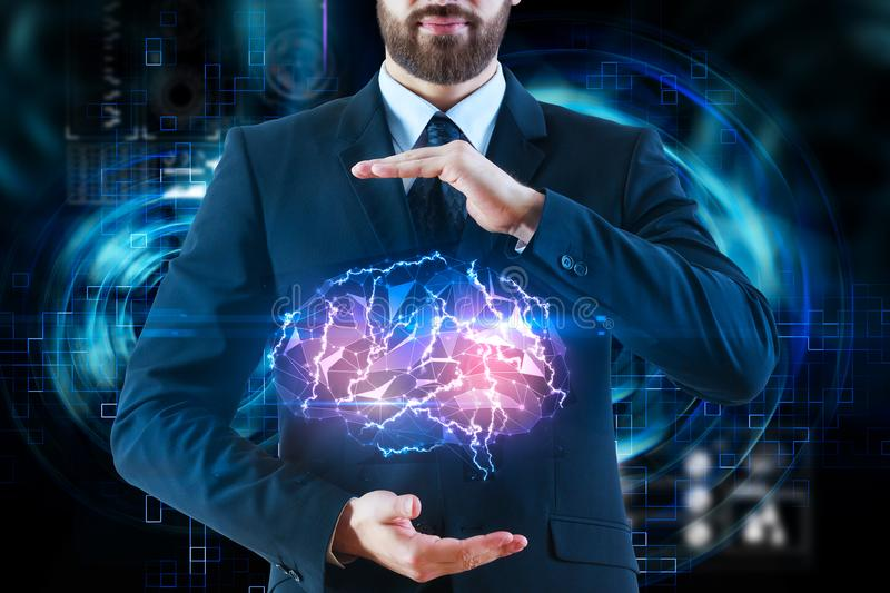 Artificial intelligence and robotics concept royalty free stock photo