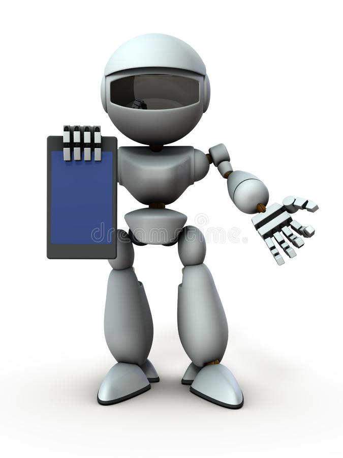 Free Artificial Intelligence Robots Use Tablet Devices To Present Something. Royalty Free Stock Photography - 158816187
