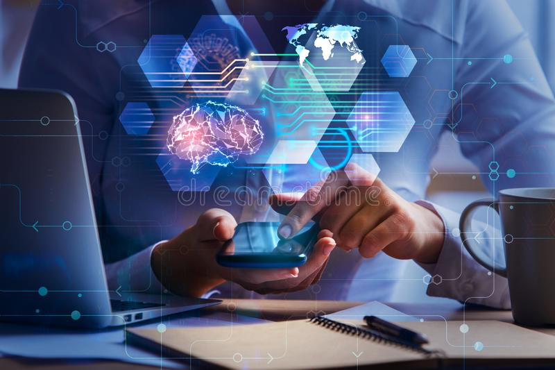 Artificial intelligence and technology concept royalty free stock photo