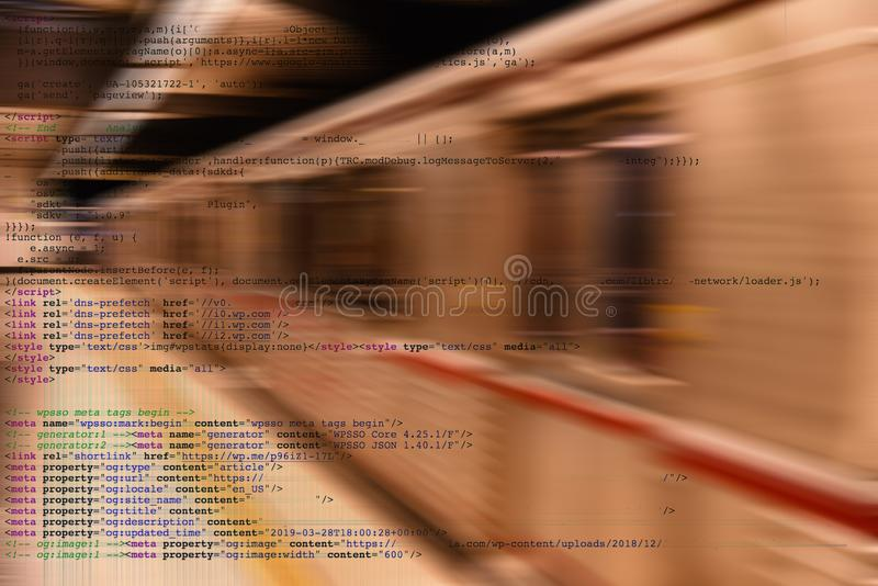 Artificial Intelligence Transportation. Conceptul image of artificial intelligence employeed in transportation.  In this case a computer controlled subway royalty free stock photos