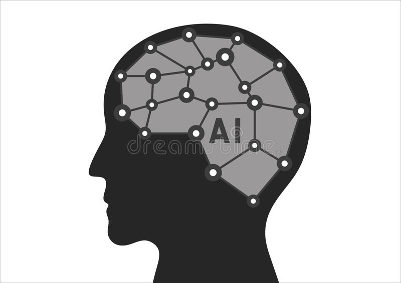 Artificial Intelligence, Vector stock photography