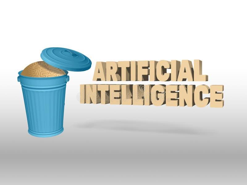 Artificial Intelligence Vs Human Mind vector illustration