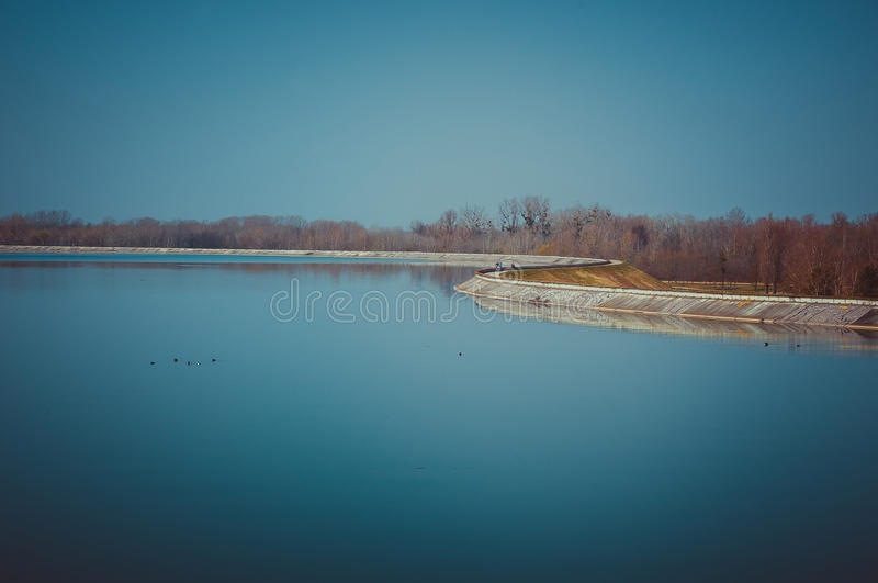 Artificial lake stock photography