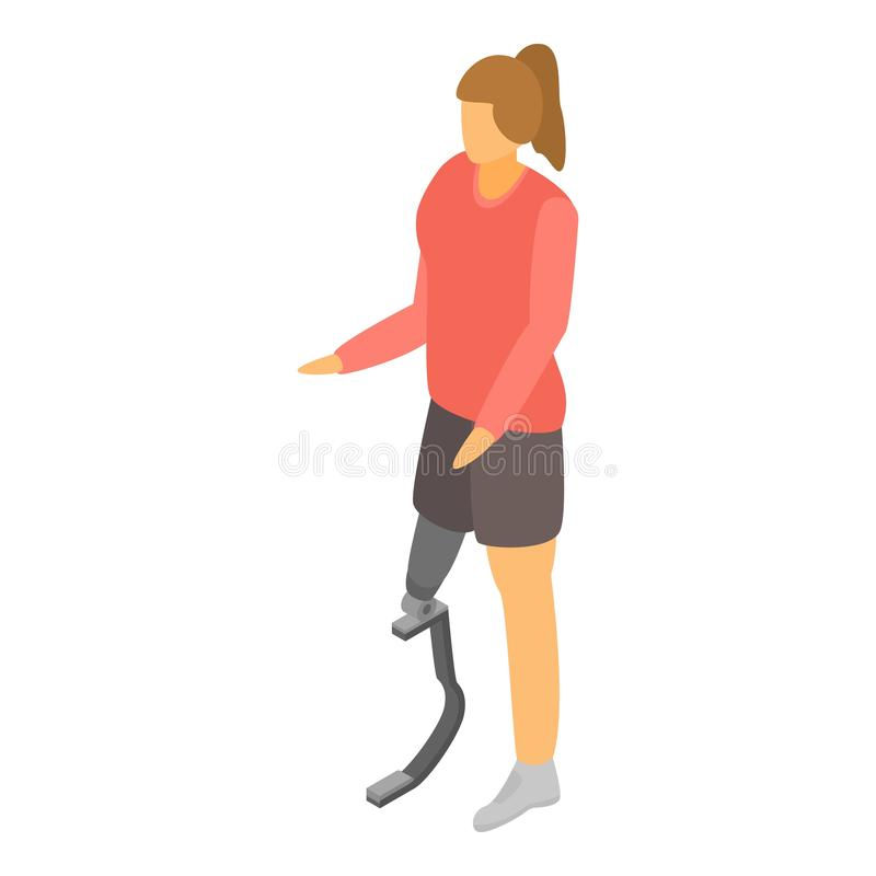 Artificial leg limbs icon, isometric style. Artificial leg limbs icon. Isometric of artificial leg limbs vector icon for web design isolated on white background vector illustration