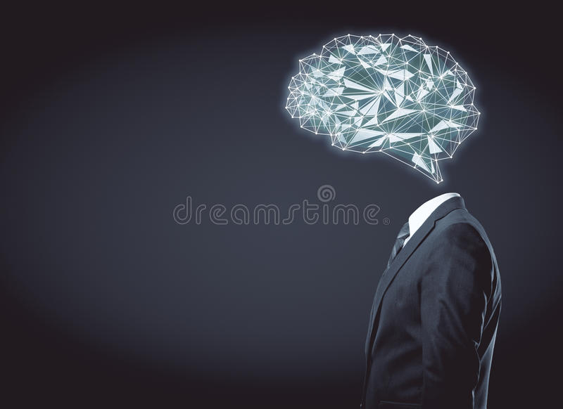 Artificial mind concept royalty free stock photography