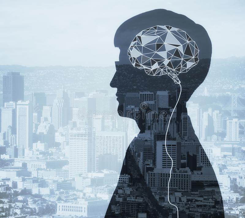 Artificial mind concept royalty free stock image