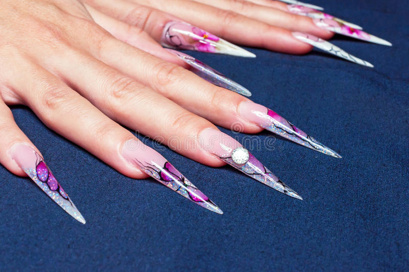 Artificial nails art stock photo. Image of finger, fashion - 85230544