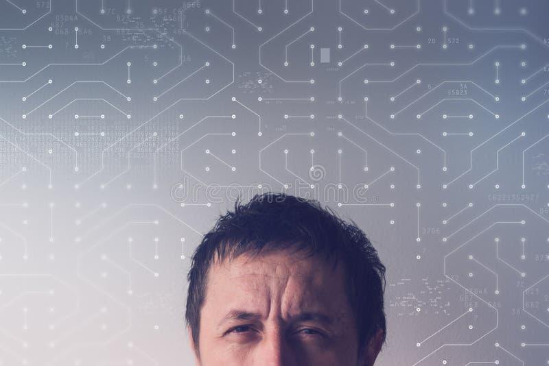 Artificial neural network concept stock image