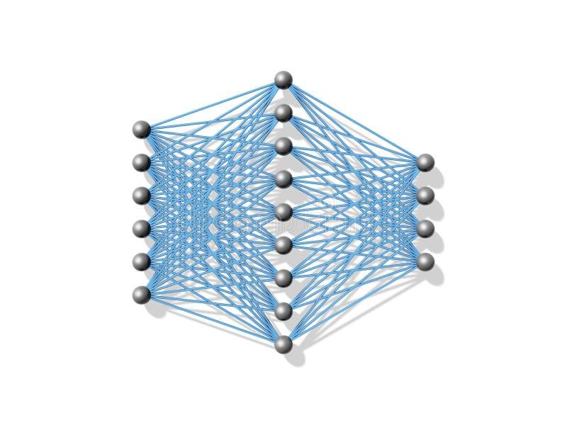 Artificial Neural Network, Schematic 3d Stock Illustration ...