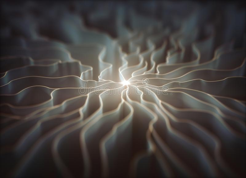 Artificial Neuron Concept royalty free illustration