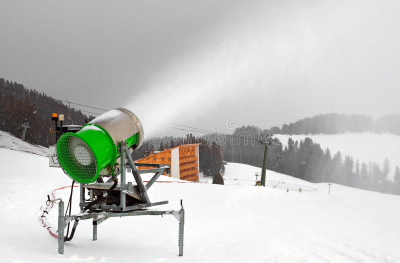 Download Artificial Snow cannon stock photo. Image of cannon, blue - 22656504