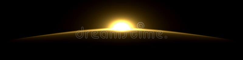 Artificial sunrise vector illustration