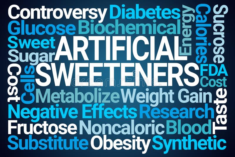 Artificial Sweeteners Word Cloud vector illustration